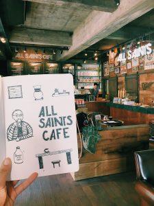 coffee shop illustration