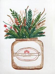 plant pencil drawing