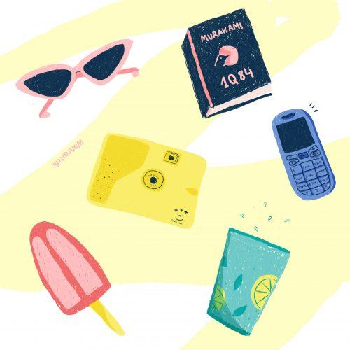 summer essentials illustration